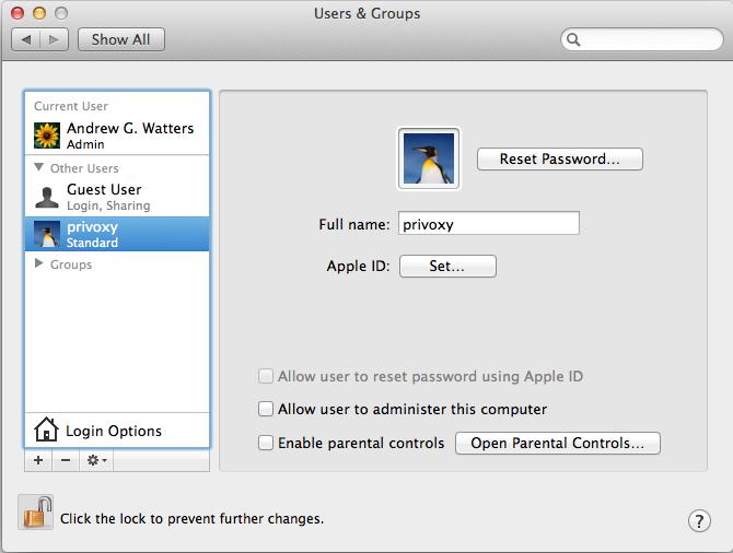 Privoxy on Mac OS X Howto